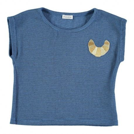 Kid T-SHIRT Girl-36% Cotton-36% Poliester 25% Viscous -3% Elastan-Knitted