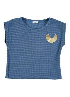 Kid T-SHIRT Girl-36% Cotton-36% Poliester 25% Viscous -3% Elastan-Knitted