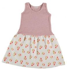 Kid  DRESS Girl-80% Cotton 20% linen- knitted& Woven