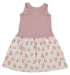 Kid  DRESS Girl-80% Cotton 20% linen- knitted& Woven