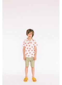 Baby-Kids SHORT TROUSERS Unisex-36% Cotton 36% Poliester 25% Viscous 3%- Knitted