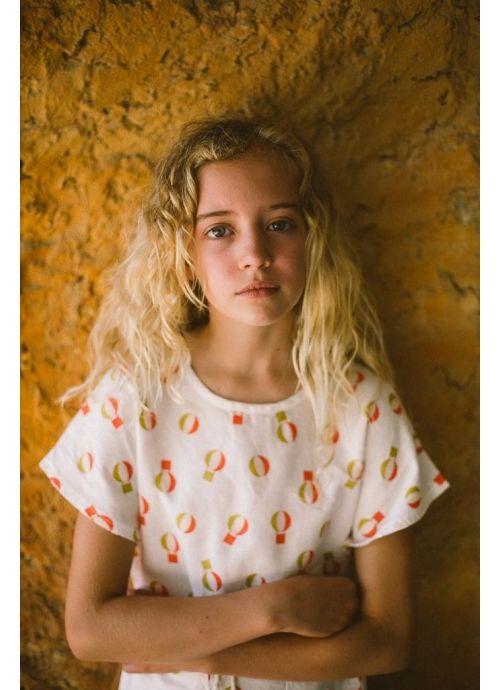 Kid  DRESS Girl-80% Cotton 20% linen -Woven