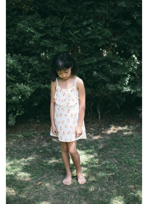 Kid  DRESS Girl-80% Cotton 20% linen- Woven