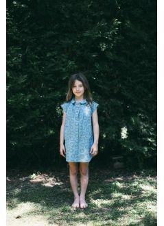Kid  DRESS Girl-80% Cotton 20% linen- Woven