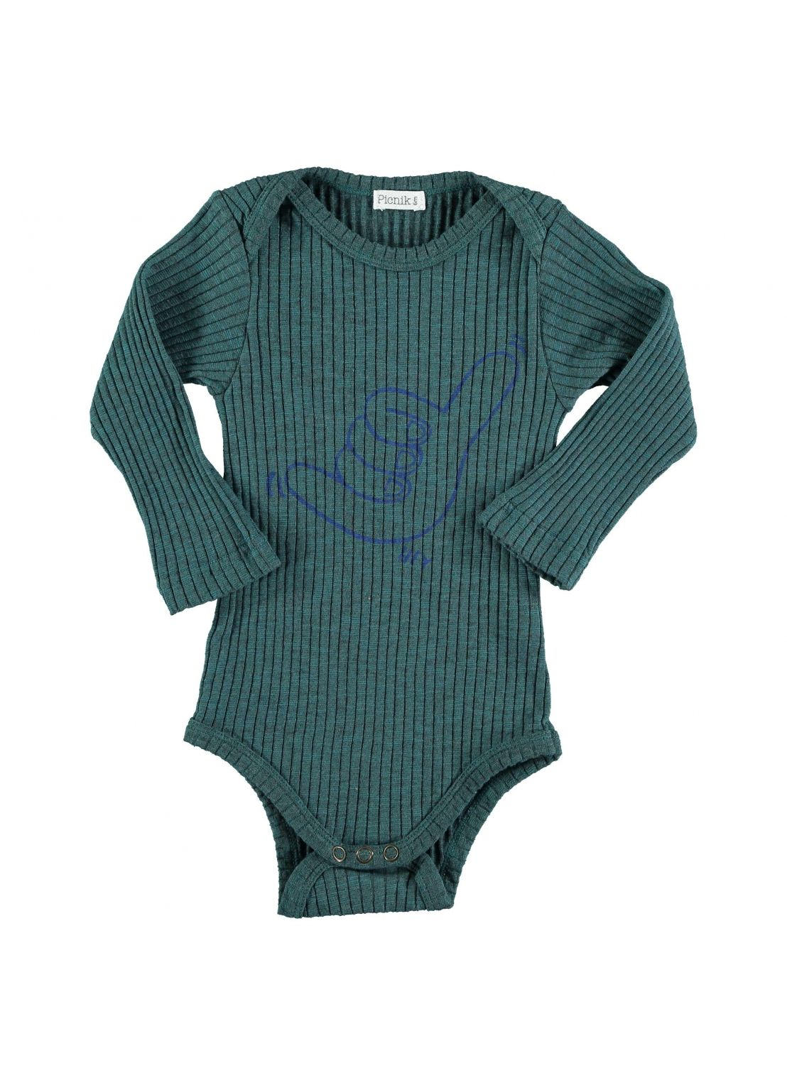 Baby ROMPER Unisex-Cotton 23% Poliester 3% Elastan- knitted