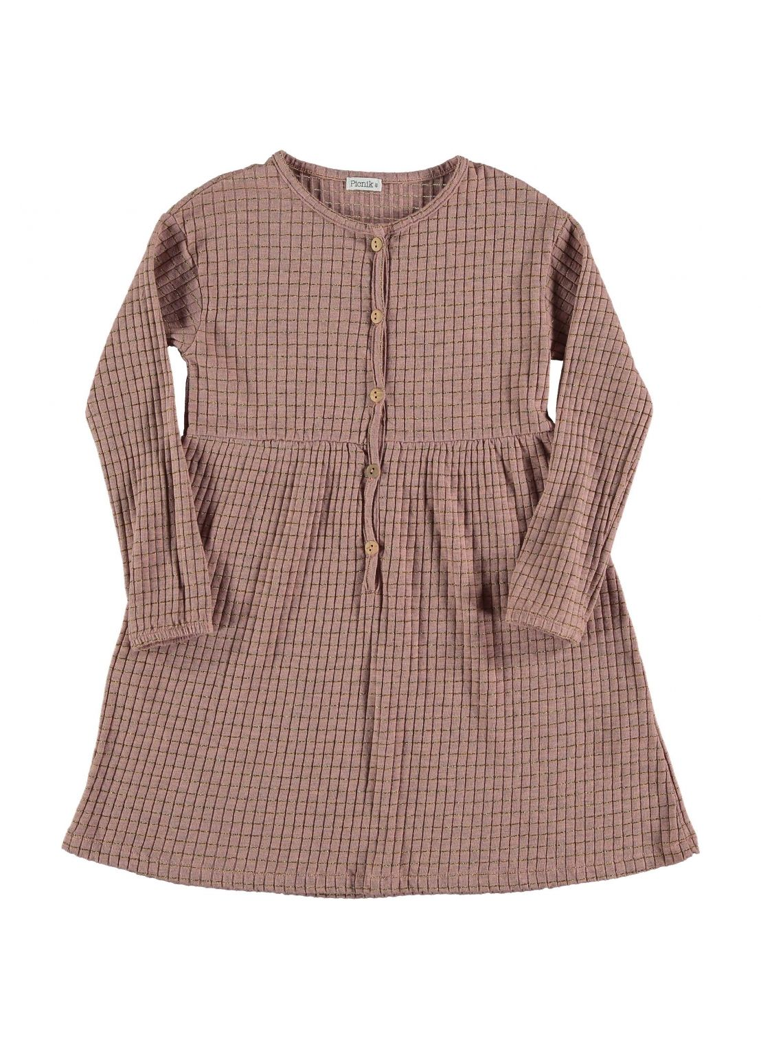 Kid  DRESS Girl- 65 % CO, 25 % PES, 5 % EA, 5 % Lúrex- Knitted