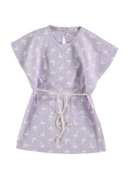 Kid  DRESS Girl- 80% Cotton 20% Linen- Woven