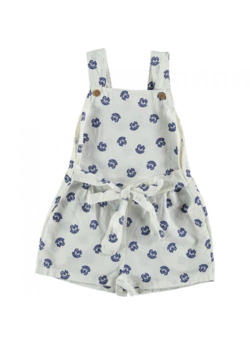 Kid JUMPSUIT Girl 80% Cotton 20% Linen -Woven