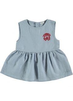 Kid BLOUSE Girl-80% Cotton 20% Linen- Woven