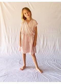 Kid  DRESS Girl-50% Cotton 50% CV - Woven