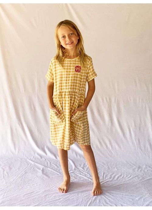 Kid DRESS Girl 50% Cotton 50% CV Linen -Woven