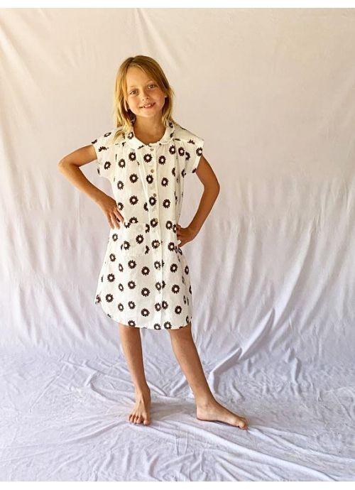 Kid DRESS Girl 80% Cotton 20% Linen -Woven