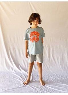 Kid TROUSERS Unisex 80% Cotton 20% Linen - Woven