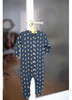 Baby ROMPER Unisex- 95% Organic Cotton 5% Elastan- knitted