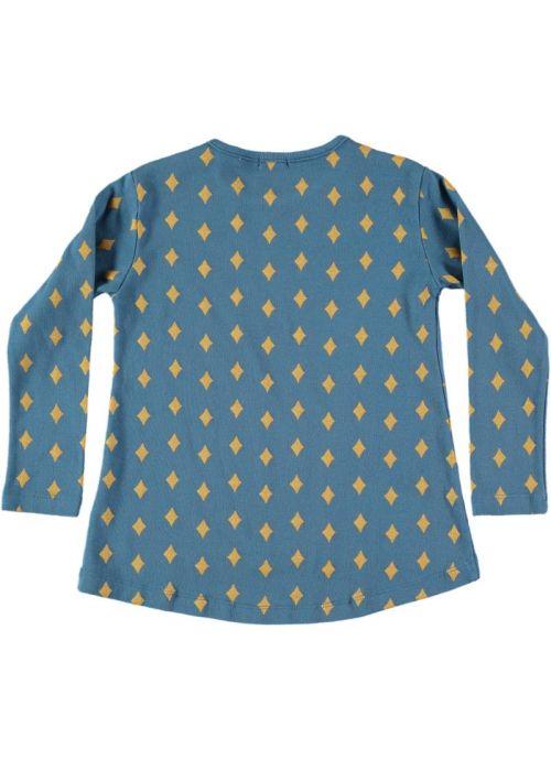 Kid T-Shirt Girl 95% Organic Cotton  5% Elastan - knitted